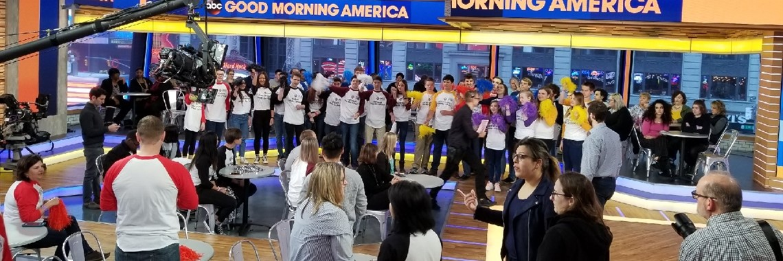 AMS Samsung Solve for Tomorrow team appears on Good Morning America Wednesday, April 11th.